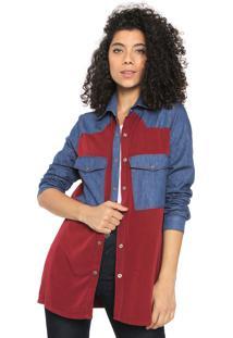 Camisa My Favorite Thing(S) Bicolor Vinho/Azul