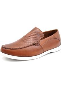 Docksider Casual Moderno Magi Shoes Confortável Marrom