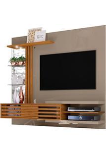 Painel Bancada Suspensa Para Tv 55 Pol. Frizz Supreme Fendi/Naturale -