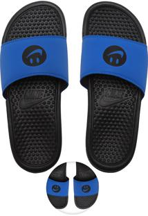 Chinelo Nike Sportswear Benassi Jdi Print Azul