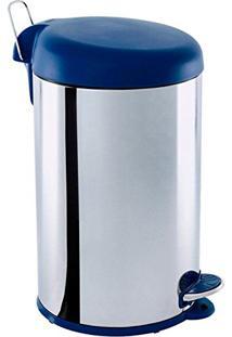 Lixeira Inox 12L Com Tampa E Com Pedal Azul 3048-263 Brinox