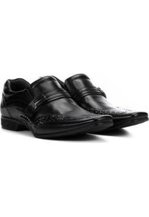 Sapato Social Couro Rafarillo New Vegas - Masculino-Preto