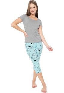 Pijama Malwee Liberta Dream Cinza/Azul