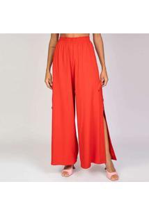 Calça Pantalona Elora Feminina Vermelho