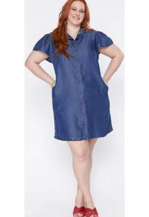 Vestido Almaria Plus Size Izzat Jeans Azul