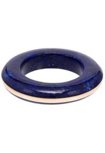 By Pariah Anel De Ouro 14K Com Lápis Lazuli - Lapis Lazuli
