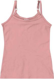 Blusa Rosa Claro Em Cotton