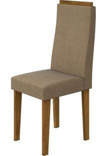 Kit 2 Cadeiras Lopas Dafne Rovere Soft Com Assento Tecido Suede Animale Bege