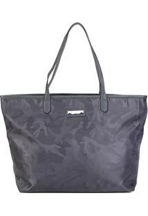 Bolsa Santa Lolla Shopper Camuflada Feminina - Feminino-Cinza