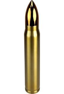 Garrafa Térmica 1 Litro Bullet Dourada Formato De Bala