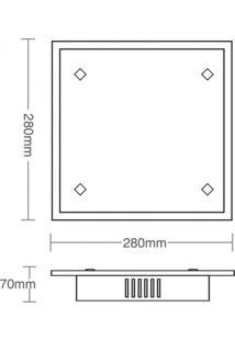 Plafon Taschibra Zimbros - 2 Lâmpadas Branco