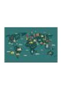 Painel Adesivo De Parede - Mapa Mundi - Mundo - 1818Pnm
