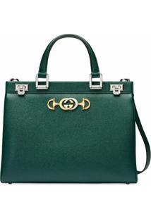 Gucci Bolsa Tote Gucci Zumi Média - Verde