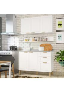 Cozinha Completa 3 Peças Americana Multimóveis 5919 Branco