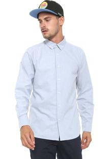 Camisa Volcom Reta Oxford Stretch Azul