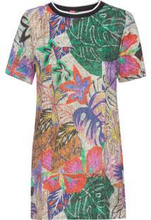 b23b013a6 Oqvestir. Vestido T-Shirt Floral Berlim Farm ...