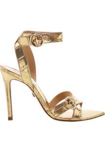 Sandália Bico Folha Golden   Schutz