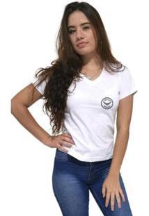 Camiseta Gola V Cellos Seal Premium Feminina - Feminino
