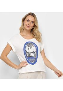 Blusa Maria Filó Of Jamaica E Barbados Feminina - Feminino-Branco+Azul