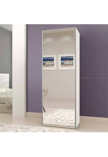 Sapateira 1 Porta Com Espelho 100% Mdf Diva Off White - Mavaular Móveis