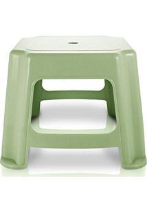 Banco Banquinho Baixo Resistente Banqueta Cadeira De Plástico Jacki Design Verde