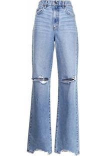 Nobody Denim Calça Jeans Reta Lou Cintura Alta - Azul