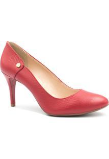 Sapato Jorge Bischoff Scarpin Salto Fino Vermelho
