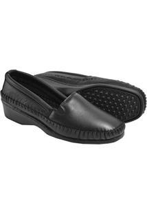 Sapato 3Ls3 Salto Anabela Pelica - Feminino-Preto