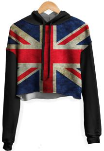 Blusa Cropped Moletom Feminina Over Fame Reino Unido Uk Md02 - Preto - Feminino - Poliã©Ster - Dafiti