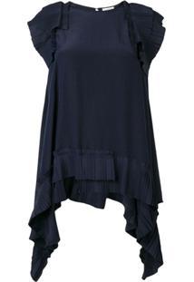 P.A.R.O.S.H. Blusa Com Pregas - Azul