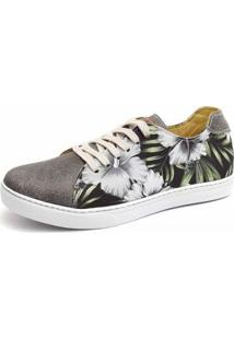 Sapatênis Shoes Grand Floral Masculino - Masculino-Cinza