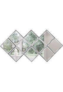 Espelho Decorativo Amalfi 74X144 Cm Preto