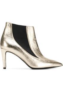 Zadig&Voltaire Ankle Boot 'Virgo' De Couro - Dourado