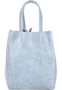 Bolsa Shopping Bag Dupla Face Ellus Feminina - Feminino-Cinza