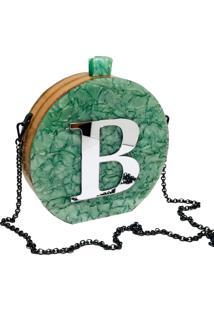 Bolsa La Madame Co Clutch Vip Green Inicial Personalizada