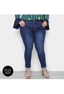 Calça Jeans Plus Size Razon Skinny Abertura Lateral Feminina - Feminino