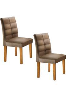 Conjunto Com 2 Cadeiras Viggor Ypê E Jacquard