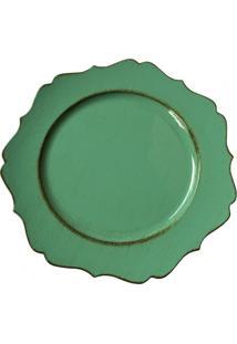 Sousplat Vintage Verde - Incolor - Dafiti