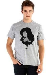 Camiseta Ouroboros Manga Curta Morte - Masculino-Cinza