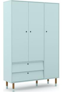 Roupeiro 3 Portas Up Menta/Eco Wood Matic Mã³Veis Azul - Azul - Dafiti
