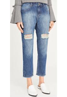 Jeans Boyfriend Destroyed - Azulshoulder