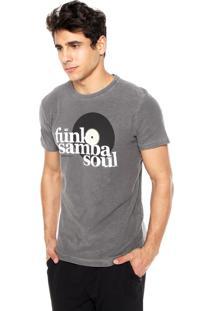 Camiseta Osklen Rough Soul Cinza