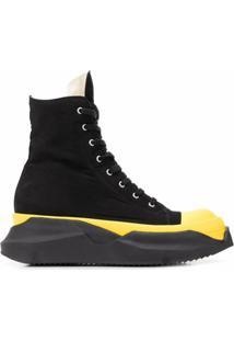 Rick Owens Drkshdw Ankle Boot Com Plataforma - Preto