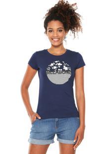 Camiseta Billabong Girls Spring Marine Azul-Marinho