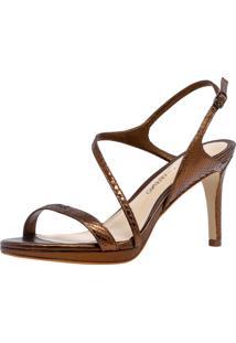 Sandália Veleno Python Dourada