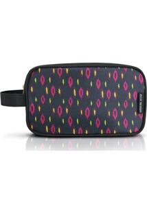 Nécessaire G Abstrata- Preta & Pink- 14X24X9,5Cmjacki Design