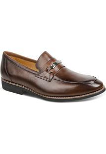 Sapato Masculino Linha Premium Loafer Sandro Moscoloni 16711 Marrom Escuro