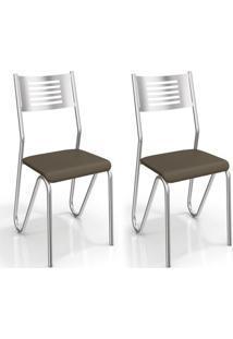 Conjunto 2 Cadeiras Nápoles Marrom