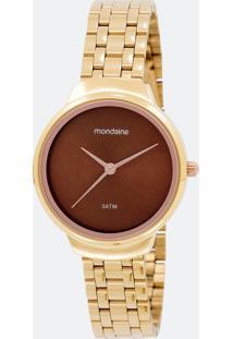 Kit Relógio Feminino Mondaine 53577Lpmkde3K Analógico 3 Atm + Conjunto Semijoia