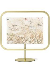 Porta Retrato Infinity Sqround 13X18 Cm Dourado Umbra